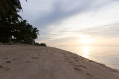 Sunset on the beach. In Koh Samui Suratthani, Thailand Royalty Free Stock Photo