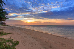 Sunset on the beach. Koh Samui, Thailand Royalty Free Stock Image