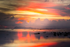 Sunset on the beach. In Koh Samui, Thailand Royalty Free Stock Image