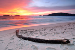 Sunset at the beach in Kota Kinabalu Sabah Borneo Royalty Free Stock Image