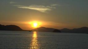 Sunset on the beach at Krabi. Sunset at the beach at Krabi Thailand stock video