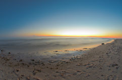 Sunset Beach. Lake Michigan sunset along the beach in Glenn, Michigan Stock Image