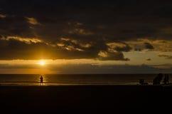 Sunset beach landscape Stock Images