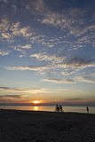 Sunset at the Beach. A sunset at the beach in Latvia, summer time, nice clouds Stock Images