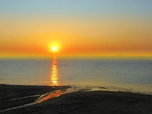 Sunset beach Letojanni Sicilia Italy Royalty Free Stock Photography