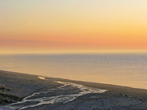 Sunset beach Letojanni Sicilia Italy Stock Photography