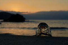 Lights in a bottle royalty free stock photography