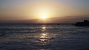 Sunset on the beach. Mahe, seychelles. Timelapse. Shot on Sony a7s stock video