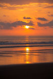 Sunset on the beach of Matapalo in Costa Rica Royalty Free Stock Images