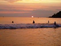 Sunset on the beach of Mirissa / Sri Lanka Royalty Free Stock Photography