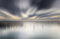 Sunset beach motion blur Royalty Free Stock Images