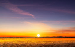 Sunset beach in Myanma Stock Photography