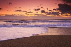Sunset beach in natural park the Gabo de Gata Stock Images