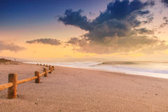 Sunset beach in natural park the Gabo de Gata Stock Image