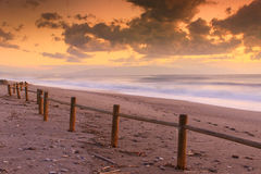 Sunset beach in natural park the Gabo de Gata Stock Photo