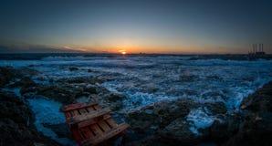 Sunset beach stock image