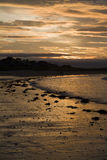 Sunset on beach, North Berwick Royalty Free Stock Image