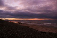 Sunset at the beach in the North East coast of Scotland. 11 Royalty Free Stock Image
