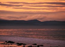 Sunset at the beach in the North East coast of Scotland. 12 Royalty Free Stock Photography