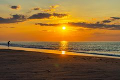 Sunset on the beach on north side of the Provincelands Cape Cod, Atlantic ocean view MA US. Sunset on the beach on north side of the Provincelands Cape Cod stock images