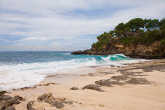 Sunset beach at Nusa Lembongan, Indonesia Stock Image
