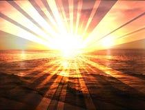 Sunset beach ocean panorama holidays Royalty Free Stock Images