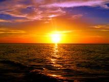 Sunset beach ocean panorama holidays Royalty Free Stock Photo