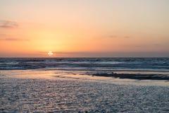 Sunset beach ocean Stock Image