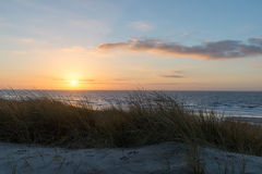Sunset beach ocean Stock Photos