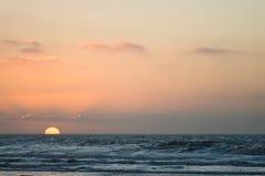 Sunset beach ocean Stock Photo