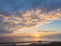 Sunset beach of Okinawa Stock Images