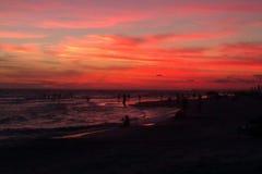 Sunset at the beach. Panama City beach Royalty Free Stock Photography