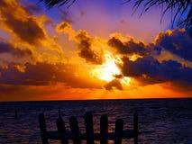 Sunset beach panorama ocean summer time holidays stock photos