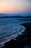 Sunset at the beach in Paphos. Sunset in Paphos oat the beach Royalty Free Stock Image
