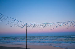 After sunset on the beach. Stock Images