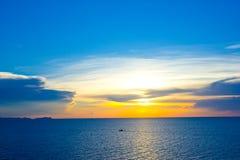 Sunset on the beach. At Pattaya city stock photography