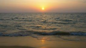 Sunset at the beach, Phangnga, Thailand stock video