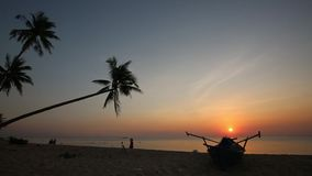 Sunset on beach at Phu Quoc island, Kien Giang province, Vietnam. Sunset on beach, Phu Quoc island, Kien Giang province, Vietnam. Phu Quoc is blessed with stock video footage