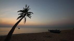 Sunset on beach at Phu Quoc island, Kien Giang province, Vietnam. Beach at sunset,  Phu Quoc island, Kien Giang province, Vietnam. Phu Quoc is blessed with stock footage