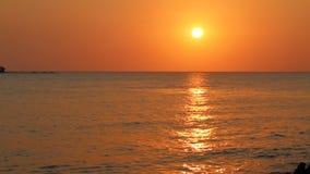 Sunset on beach at Phu Quoc island, Kien Giang province, Vietnam stock video