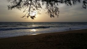 Sunset. By the beach in Phuket Stock Image