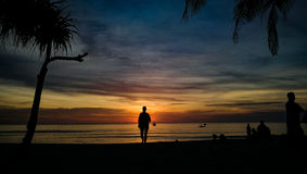Sunset on beach Phuket Thailand Royalty Free Stock Image