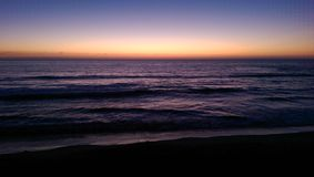 Sunset on the beach. Rosarito Mexico Stock Photography