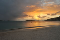 Sunset. From the beach - Saint Martin Stock Images