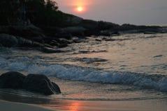 Sunset beach Royalty Free Stock Photos