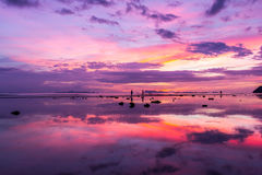 Sunset on the beach. At Samui Island, Thailand Stock Image