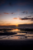 Sunset from a beach in Scotland Royalty Free Stock Images