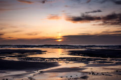 Sunset from a beach in Scotland Stock Photo
