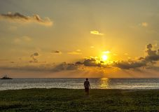 Sunset. Beach sea sunset calmness beauty sun sky Royalty Free Stock Image