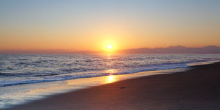 Sunset and beach Royalty Free Stock Images